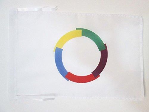 AZ FLAG Flagge FRANKOPHONIE 45x30cm mit Kordel - FRANKOPHONEN Fahne 30 x 45 cm - Flaggen Top Qualität