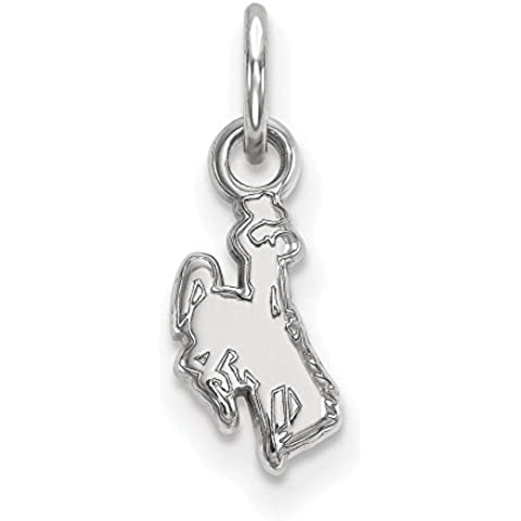 NCAA Wyoming Cowboys 3/8 XS W Pendant, One Size by Logo Art