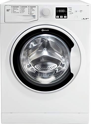Bauknecht WM 62 SLIM Waschmaschine Frontlader/A+++ / 6 kg / 1200 UpM/Antiflecken 100/Wolleprogramm/Kurz 30/Daunen/Startzeitvorwahl/Wasserschutz