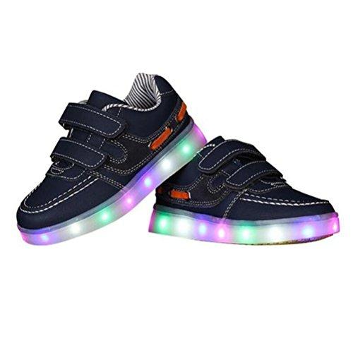 Turnschuhe junglest Sportschuh Black Mädchen Jungen Trainer 7 Handtuch Leuchten Kinder Farben present Led Führte kleines Sneakers Z6qOqRw