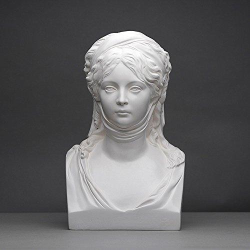 Königin Luise Skulptur aus hochwertigem Zellan, echte Handarbeit Made in Germany, Büste in weiß, 12cm
