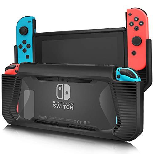 Adorever Upgraded Schutzhülle für Nintendo Switch, harte dünne gummierte Griffabdeckung, stoßdämpfend, kratzfest, für Nintendo Switch 2017 - Enhanced Protection Case