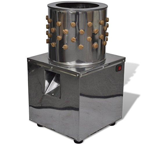 vidaXL Edelstahl Geflügelrupfmaschine Nassrupfmaschine Rupfmaschine für Hühner 180 W