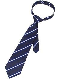 10 cm de largeur-Noir/Blanc/Bleu/rayures diagonales auto Tie Cravate pour homme