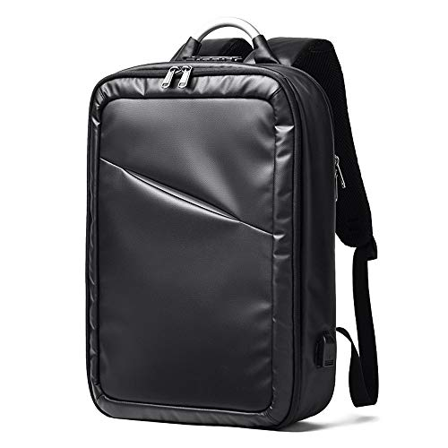 LZRDZSW Business Laptop Rucksack, Travel Waterproof Rucksack mit USB-Ladeanschluss for Männer Frauen, Regenschutz Business Travel Backpack Tasche for Männer Frauen Airport Friendly 15 Zoll