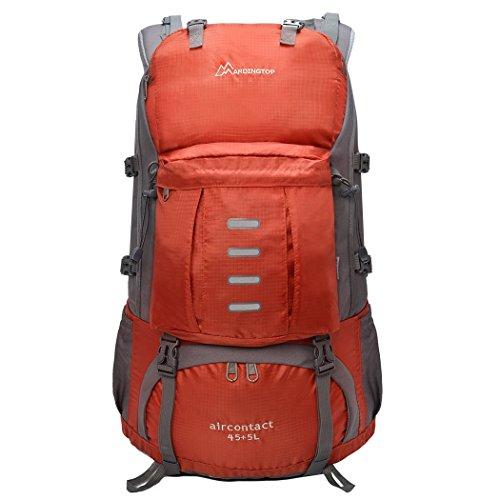 Imagen de mountaintop 45 + 5l  impermeable / morral que acampa / viaje/  al azar con la cubierta impermeable al aire libre escalada  para la escuela alternativa