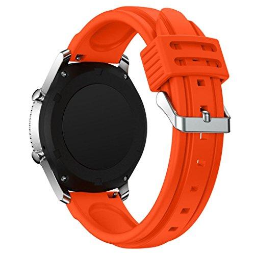 Kompatibel für Samsung Gear S3 Classic Armband :,Kaiki Neue Art- und Weisesport-Silikon-Armband-Bügel-Band für Samsung Gear S3 Classic (Orange)