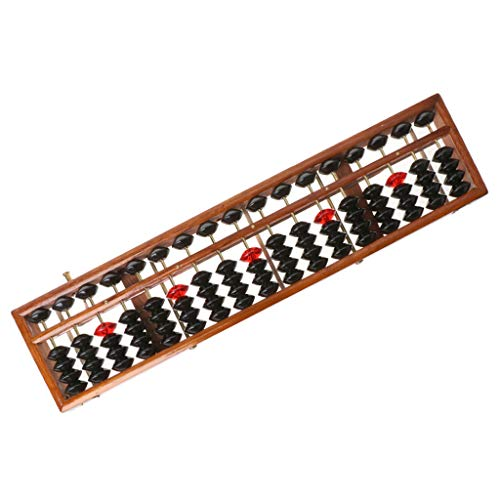 17 dígitos de madera Soroban estándar Abacus chino calculadora contador matemáticas herramienta...