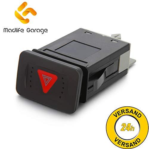 Madlife Garage 1J0953235J Warnblinkschalter Warnblinker Relais Schalter Bora 1J2 1J6 Golf IV 1J1 1J5