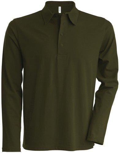Kariban Langarm Poloshirt K205 Grün - Khaki