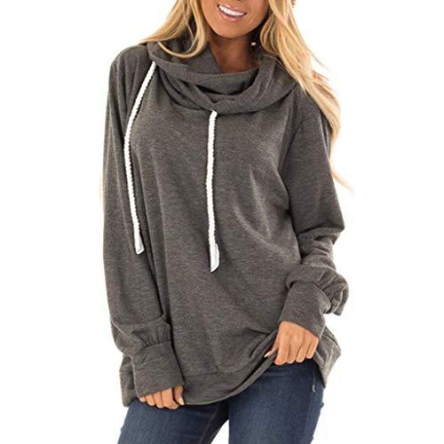 ❤️ AG&T ❤️ Frauen Slogan Bluse Tops Baumwolle Langarm Plus Size Sweatshirt -