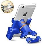 REETEE Soporte Movil Bicicleta, Soporte de Móvil Deportiva con 360 Rotación para iPhone y 4.5'-6.0' Smartphones, Soporte Manillar para Bicicleta de montaña y Motocicleta (Azul)