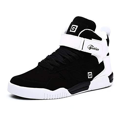 MUOU Uomo Sneaker Scarpe da Corsa Scarpe da Ginnastica Uomo Sportive Fitness Running Casual Nero(Nero-1,39EU)