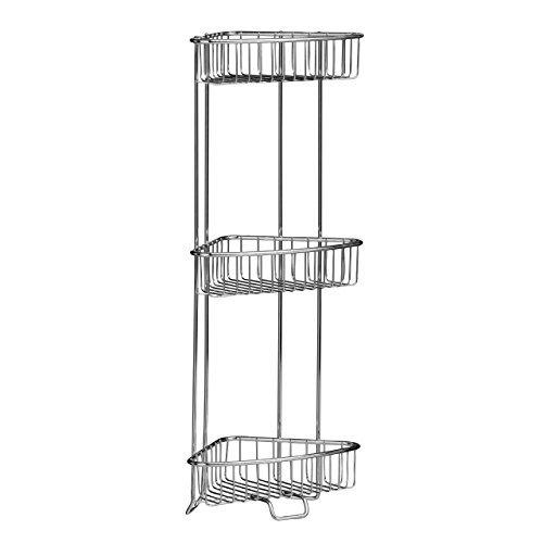 Corner Storage Unit (Bathroom Corner Shelf Storage Unit With 3 Tiers   Corner Shower Caddy Srorage by PRIME FURNISHING)