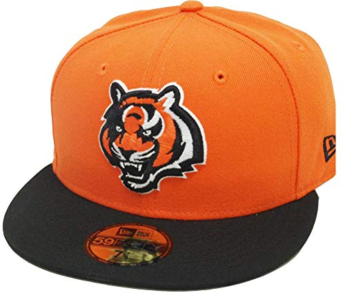 New Era Cincinnati Bengals Orange Black 2 Tone On Field NFL Cap 59fifty 5950 Fitted Limited Edition Two Tone Fitted Cap