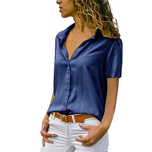 MRULIC Damen Shirt Tie-Bow Neck Striped Langarm Spleiß Bluse Gestreift Damen Tragen Tops Pullover(C-Marineblau,EU-46/CN-3XL)