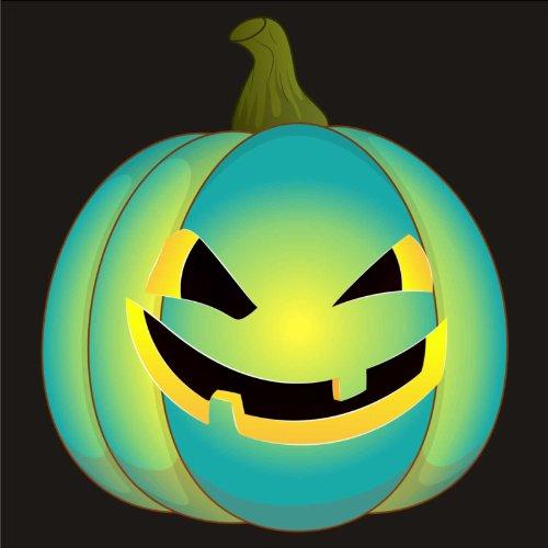 V-T-Shirt - Kürbis 11 - Halloween - pumpkin - Damen Schwarz
