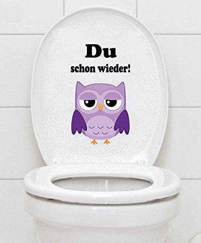 WC Aufkleber - Du schon wieder!- Eule Toilettendeckel A046