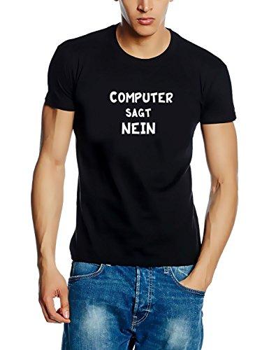 COMPUTER SAGT NEIN ! ! T-SHIRT SCHWARZ, Gr.XL