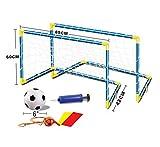 Dominiti 2X Fussballtor mit Netz und Ball / inkl. Pumpe, Pfeife und Haken / Fussball / Soccer