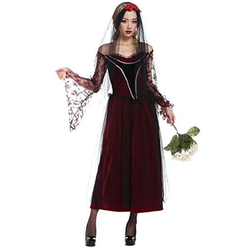 Halloween Damen Kostüm Cosplay Ghost Braut Maskerade Party Party Kostüm Hexe Verkleiden Sich (Spooky Ghost Kostüm)