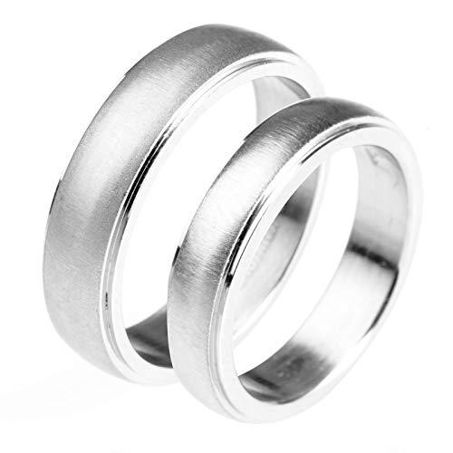 g Partnerringe Titan Paarpreis Verlobungsringe Edelstahl Gold,Silber,Frau:59.5(19)&Mann:62(19.7) ()