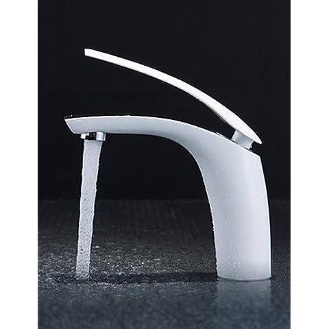 LONG-Centerset Single Handle un foro in Nichel lucido Lavandino rubinetto del bagno