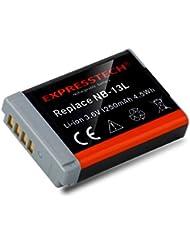 Expresstech @ remplacement substitution Batterie batterie battery NB-13L nb13l pour Canon PowerShot G5 X, G7 X, G7 X Mark II, G9 X, SX720 HS