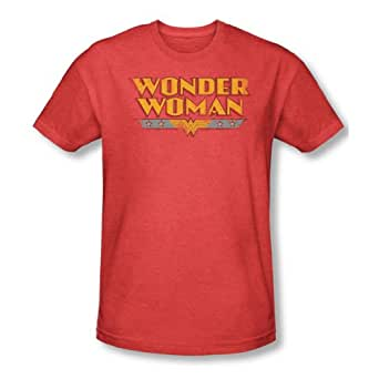 Dc Comics - Mens Wonder Woman Logo T-Shirt In Red, XX-Large, Red