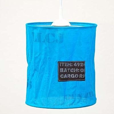 Kinder-Hängelampe CARGO, Textil, Höhe 27cm, in weiß oder blau