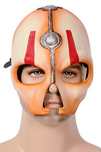 Halloween Maske Herren Cosplay Kostüm Verrücktes Kleid Helm Old Republic Kleidung Replik für Adult Party (Star Sith Republic Wars Old Kostüme)