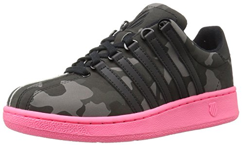 K-Swiss Classic Textile Turnschuhe Blk/Pewter/Neonrd