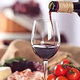 Juego de 4 copas de vino Culinaire de 600 ml pintadas a mano, ideal para bodas, aniversarios, fiestas de compromiso, excelente regalo para los amantes del vino tinto o blanco