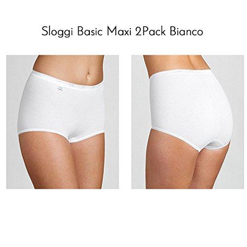 Sloggi Donna Basic Maxi confezione 2pack BIANCO