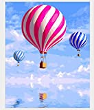 Pintura por números Sin Marco Pintura de Bricolaje de Globo de Aire Caliente por números Kits Pintura acrílica Sobre Lienzo Pintado a Mano Pintura al óleo para Decoraciones caseras para niños 40X50CM