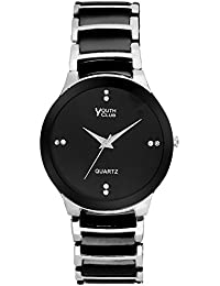 YOUTH CLUB SUPER BLACK AND WHITE ANALOG BLACK DIAL MEN'S WATCH-RD-01BLKWTGN