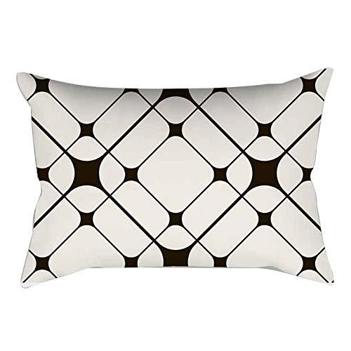 (Le Yi Wang Sie 30x 50cm Abstrakt Geometrische rechteckig Kissenbezüge Taille Kissenbezug Home Decor 3#)