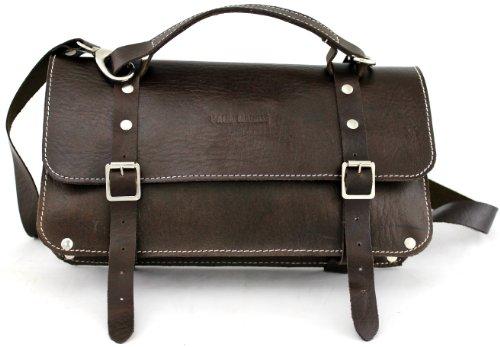 L'ENVELOPPE INDUS', bolso estilo envolvente de fabricado en piel, bolso a mano, bolsillo color marrón oscuro PAUL MARIUS Vintage & Retro