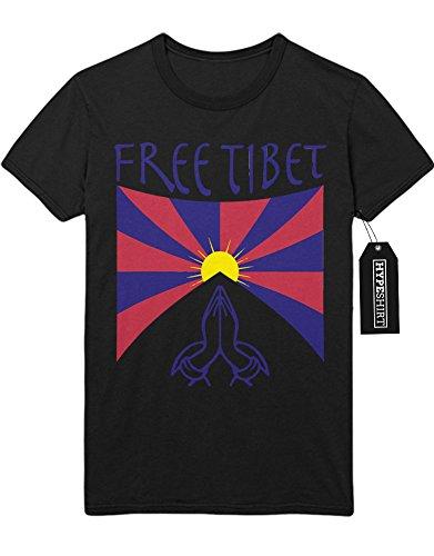 "T-Shirt ""FREE TIBET"" H999978 Schwarz"