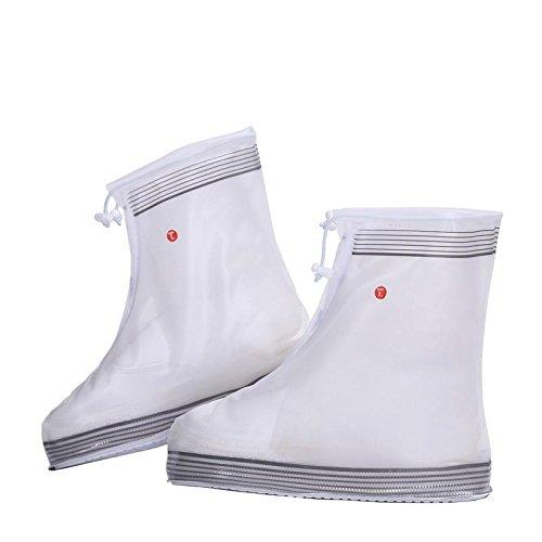 HHBO Rivestimento impermeabile riutilizzabile Custodie per scarpe da donna resistenti alle scivolature White