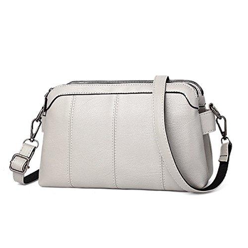 026f696073 ZPFME Borsetta Donna Tote Casual Moda Borsa Donna Shopper Cuoio Party Retro  Banchetto Grey