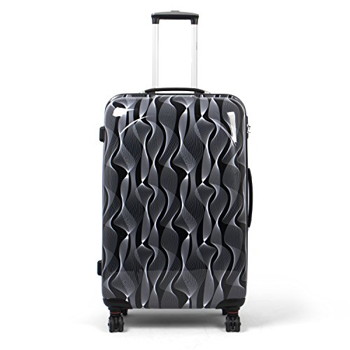 MasterGear Hartschalenkoffer mit Motiv | Design Koffer in Größe L | Koffer 4 Rollen (360 Grad) | Trolley, Reisekoffer | ABS Koffer Hartschale mit...