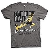 Bloodsport Officiellement sous Licence Fight to The Death T-Shirt pour Hommes (Gris Foncé)