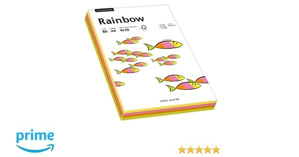 5 verschiedene Intensivfarben Farbiges intensives Papier A4 80g 200 Blatt