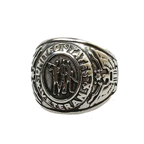 Adisaer Ring Silber Jugendstil Ring Edelstahl Vergoldet Silber Herren Ring Truppeneinheit Armee...