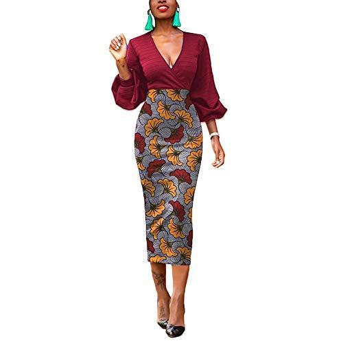 Lover-Beauty Sommerkleid Damen Lose Abendkleid elegant Knie Lang Kleider Elegant Strandkleid Minikleid rot M