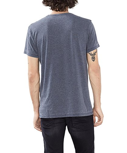 action edc by esprit herren t shirt 086cc2k007 blau navy. Black Bedroom Furniture Sets. Home Design Ideas