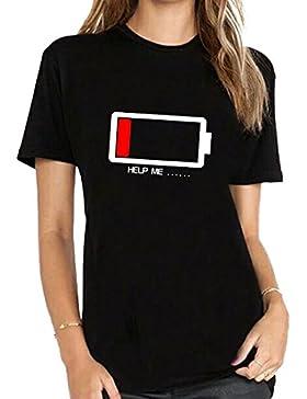 BLACKMYTH Mujer Casual Moda Gracioso T-shirt Manga Corta Señoras Camisetas Para Estampar