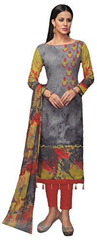 Green And Red Cambric Cotton Summer wear Pakistani Karachi Style Ethnic Casual...