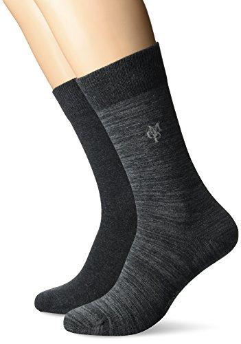 JONTE  Legwear M-Socks 2-pack Herren socken, grau, 43/46 (Herstellergröße: 406), 155624 Herren Socke Unterwäsche
